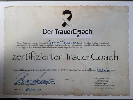 Zertifikat TrauerCoach